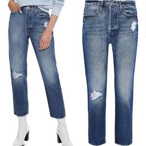 Le Pegged High Waist Straight Leg Jeans